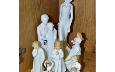 SEVEN ROYAL DOULTON FIGURES/GROUP, comprising Brothers (Imag...