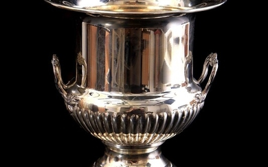 (-), Silver plated French champagne cooler, Fleuron, 26...