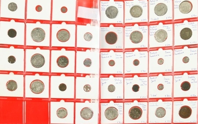 Small collection silver coinage Spanish Netherlands: Vlaanderen + Brabant including...