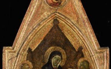 The Virgin and Child enthroned with Saint Catherine of Alexandria and Saint John the Baptist, Attributed to Pietro Lorenzetti