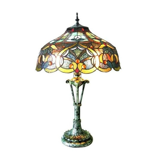 Tiffany Style Stained Art Glass Lamp