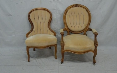 Victorian Gents and Ladies Matching Chairs