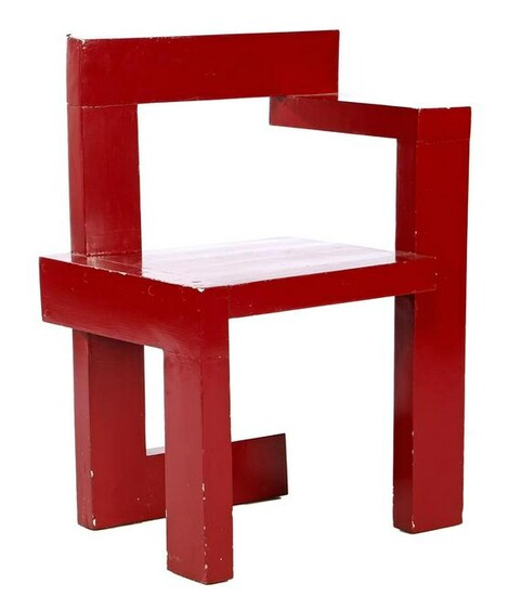 Wooden painted chair