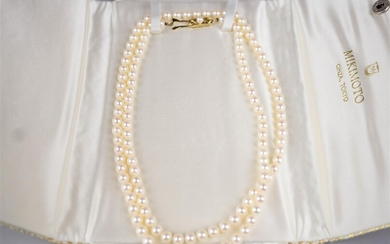 14K GOLD MIKIMOTO PEARL NECKLACE