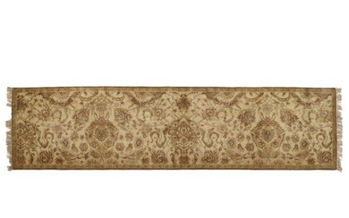 3'6 x 14'3 Hand-Knotted Indian Long Rug
