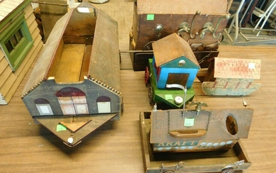 5 Vintage Bench Made Wood Toys