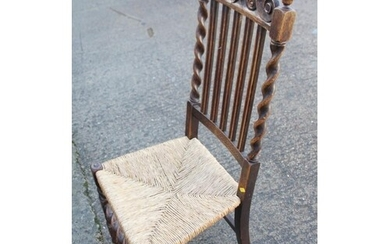 A 19th century grained as rosewood bar back carver chair wit...