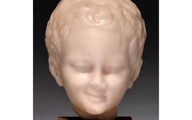 A British Museum marble composition replica head of Eros, 20...