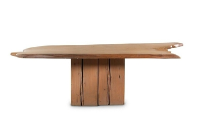 A Contemporary Cypress Dining Table