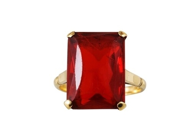 A GEM SET DRESS RING, mounted in 14ct gold
