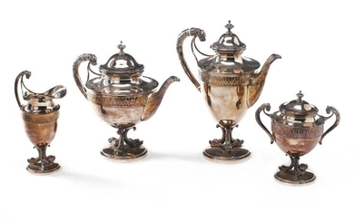 NOT SOLD. A German silver coffee and tea service. Maker Carl Tewes, Dortmund c. 1900. Weight 2502 g. H. 17.5-28.5 cm. (4) – Bruun Rasmussen Auctioneers of Fine Art