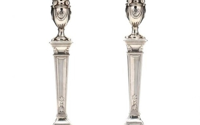 A Pair of George III Silver Candlesticks, John Winter & Co.