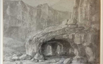 A collection of expansive landscapes. Thomas Girtin, with aquatint by J. B. Harraden, Waterworks