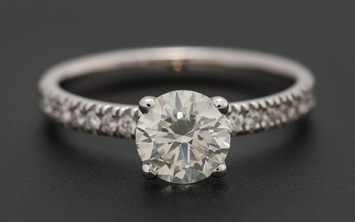A diamond ring set with numerous diamonds weighing a total of app. 1.21 ct., mounted in 14k white gold. Size 54. – Bruun Rasmussen Auctioneers of Fine Art