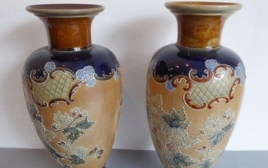 A matched pair of late 19th century Royal Doulton stoneware ...