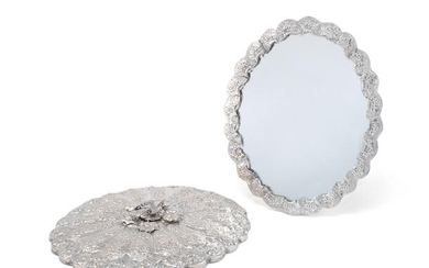 A pair of Egyptian silver mirrors