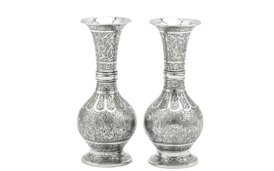 A pair of early 20th century Iranian (Persian) silver