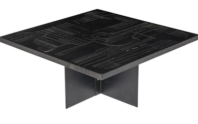 An Italian design 'NP2' coffee table, by Ceccarelli and Patuzzi, H 35 - W 80 - D 80 cm