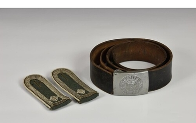 An original WWII German Army Third Reich belt and buckle, th...