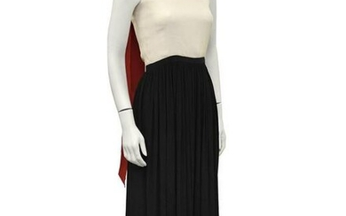 Anonymous Color Block Silk Jacquard Gown with Scarf
