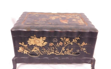 Chinese Lacquered Jewel Box
