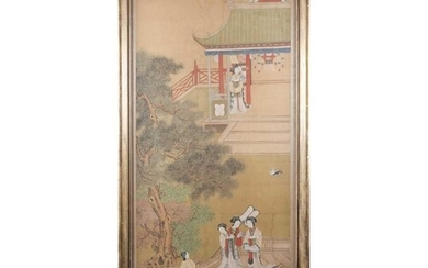 Chinese school, Qing, late 19th century, court ladies and at...