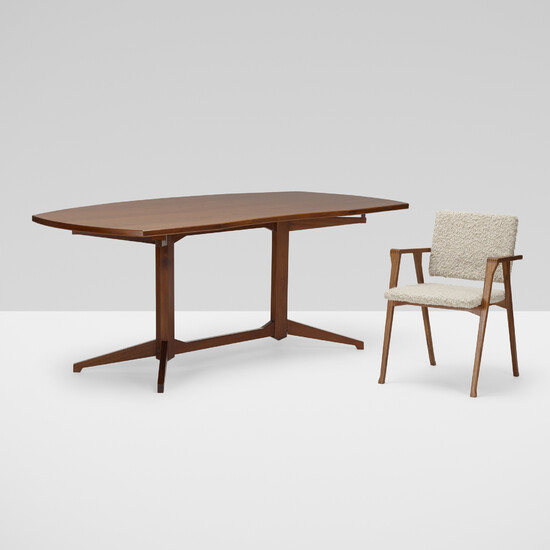Franco Albini and Franca Helg, Desk, model TL 22 and Luisa chair