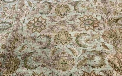 Hand Knotted Oushak Rug 10x8 ft