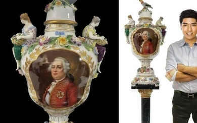 Large White Sèvres Figural Porcelain King Louis XVI