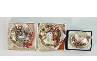 Royal Crown Derby Old Imari dishes plus box and cover: All b...