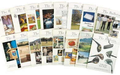Sixteen issues of Bulletin with 69 golf catalogs