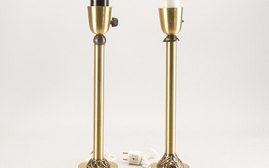 Table lamps, 2 psc, late 20th century.