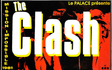 The Clash: A French concert poster