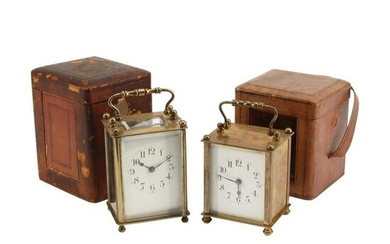 Two French Carriage Clocks.