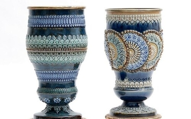 Two late 19th to early 20th Century Doulton Lambeth pedestal...
