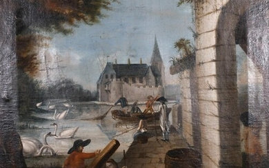 18th Century Northern European School. A Harbour Inlet with ...