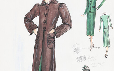 1930'S FASHION ILLUSTRATIONS SPRING COLLECTION.