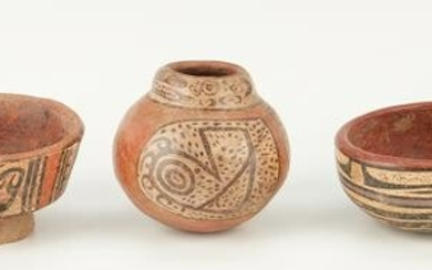Five (5) Pre-Columbian Panamanian Cocle Pottery Vessels