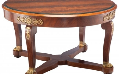 A French Empire Mahogany Dining Table, 19th cent