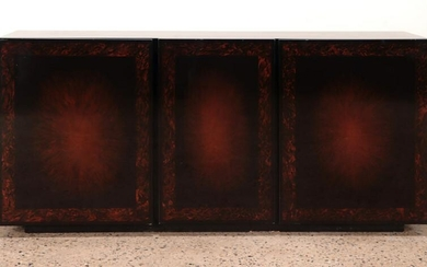A FRENCH LACQUERED SIDEBOARD 3 DOORS C 1970