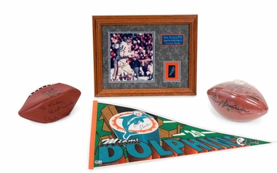 A Group of Signed Autograph Football Hall of Fame Items