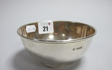 A Hallmarked Silver Bowl, MH&CoLd, Sheffield 1925, of plain ...