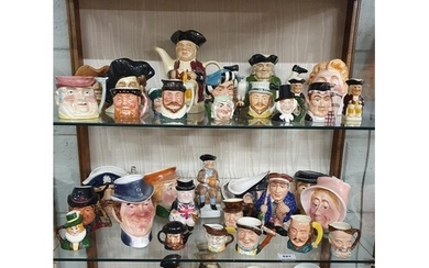 A extremely large collection of Toby Jugs some Royal Doulton...