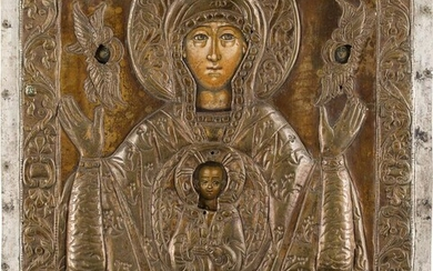 AN ICON SHOWING THE MOTHER OF GOD OF THE...