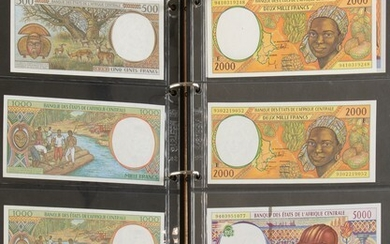 Album banknotes Afrika including Central African Republic, Central African States,...