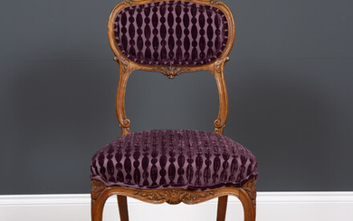 An antique French side chair
