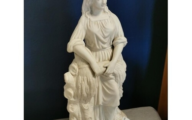 Ruth the Gleaner Parianware Classical Figurine, possibly Cop...