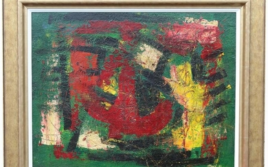 Appel, Abstract Oil Painting on Board