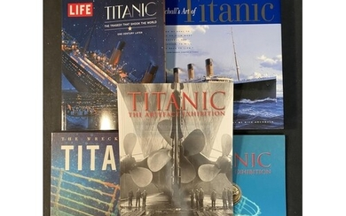 BOOKS: R.M.S. Titanic and related hard back books and magazi...