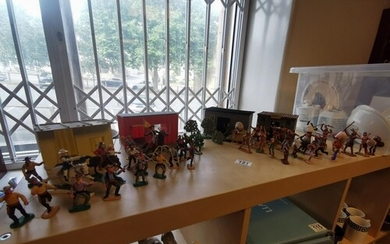 Collection of Vintage Western Scene Cowboys & Indians Soldie...